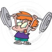 Tú debes levantar pesas mucho porque es saludable.