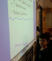 1st Graders Using the Promethean Board