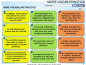 Psychology Vocab Practice