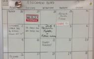 Oversized Calendar