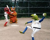 Even the muppets play baseball!