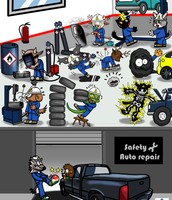 2. ¿Cuáles son los riesgos de accidentes en los talleres mecánicos?