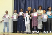 Fourth Grade Principal's Honor Awardees