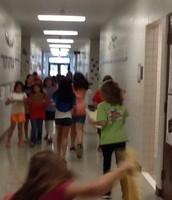 Running to find numbers around the school!