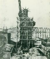 Statue being built
