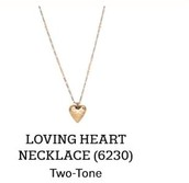 Loving Heart Necklace in Two Tone