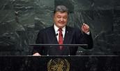 Mr. Poroshenko Specks to UN