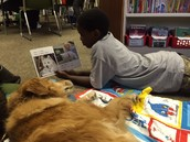 Zimry and Buddy enjoying a Meli story.