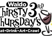 Waldo Thirsty Third Thursday Art Crawl