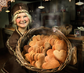 Mrs. Claus Gingerbread Kitchen