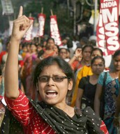 WOMEN PROTEST FOR GANG RAPE IN INDIA
