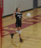 Serving at a Volleyball Game