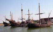 Carabelas de cristobal Colón