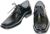 Brillantes Zapatos de Vestir Negros