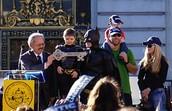 The Bat kids And Batman at Gotham City