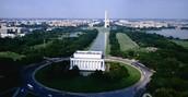 Lincoln Memorial y Washington Memorial