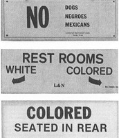 Colored And White Separation Signs