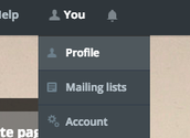 """1. Go to your """"Profile"""""""