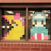 Pixel Window Art
