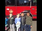 Enjoying the Fire Trucks!!!
