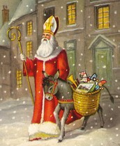 St nick brings small gifts and is the patron saint of children