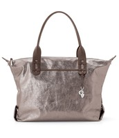 """How does she do it"" bag metallic pewter"