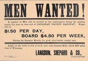 Advertisement for Chinese Workers