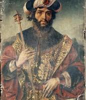 King David, predella from Life of the Virgin Retablo Mayor de Santa Eulal
