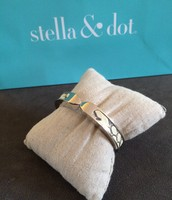 SOLD White Leather Bangle - $15