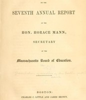 Horace Mann's report