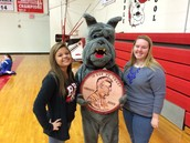 Bulldog with FCCLA officers