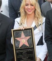 This is Sharika getting her star for the Hollywood's star of fame.