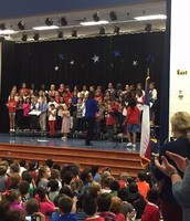 Choir students performing at our Veteran's Day Program