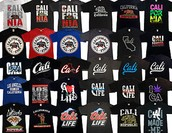Cool and Awesome CALI Shirts