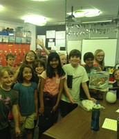 5th graders delivering our caterpillars! Butterflies soon!
