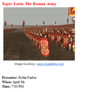Culture Cafe - The Roman Army