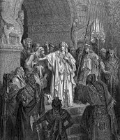ציור המתאר את שמואל מכריז על שאול למלך