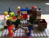 Scene Two of Battling Knights