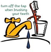 2)Turn off water while brushing