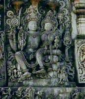 This is Vishnu and Lakshmi