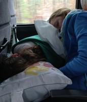 18. ¿Que hiciste en el autobús? What did u do on the bus?