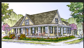What is a farm house ( wrap around porch )