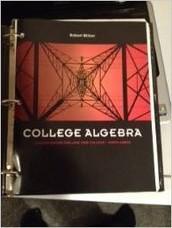 College Algebra By Robert Blitzer (No Access Code) [Loose Leaf] w/binder