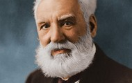 This is the creator himself, Alexander Graham Bell.