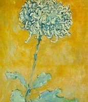 Chrysanthemum. Watercolor on paper.