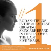 Rodan + Fields is the #1 fastest growing skincare brand in the U.S., over the past 5 years.