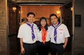 Tr. Trí , Tr. Đinh Kim Nguyệt và Tr. Công