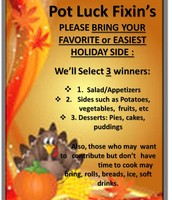 Holiday Cooking contest and donations