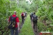 Volcanic hiking trails