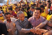 Arrival of Dr Mahathir
